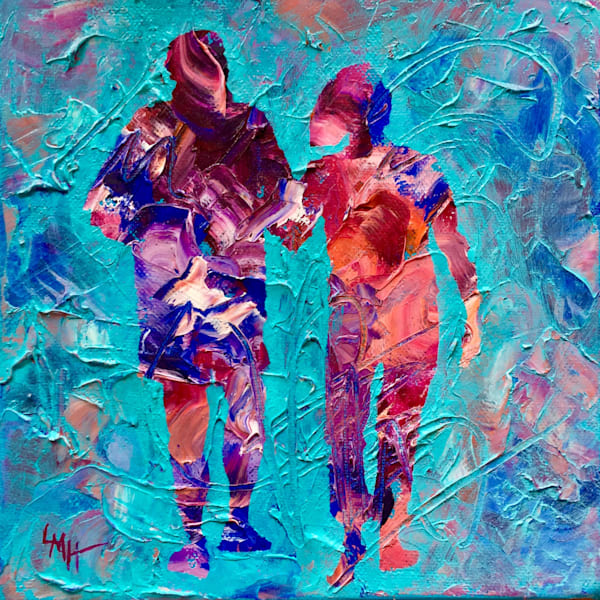 One Last Walk, is a fine art limited edition hand embellished print  on canvas by southern artist, Laura McRae-Hitchcock.