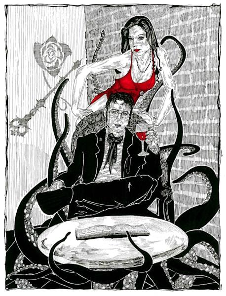 An original illustration inspired by Vampire the Masquerade