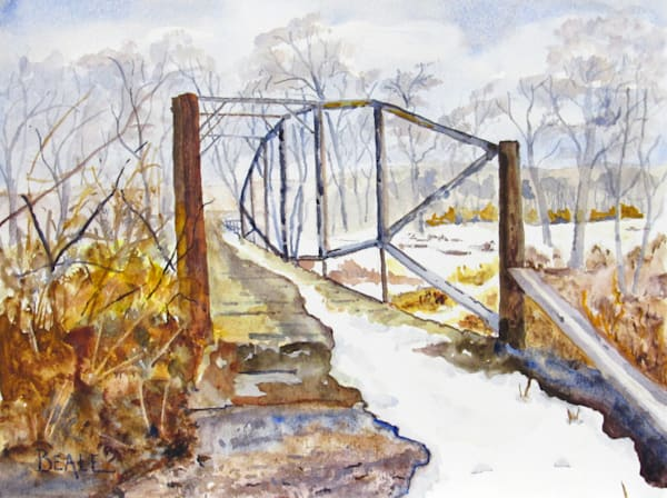 Cortland Townline Lenticular Bridge Art | David Beale