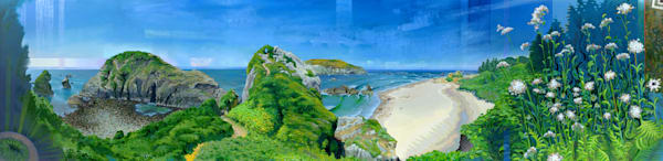 The Pinch a painting of Harris Beach by Spencer Reynolds