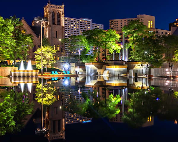 Peavey Plaza Reflections - Photos of Minneapolis Minnesota | William Drew