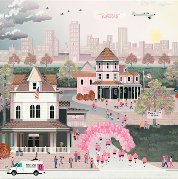 Strength In Pink Art | Julie Pace Hoff Gallery
