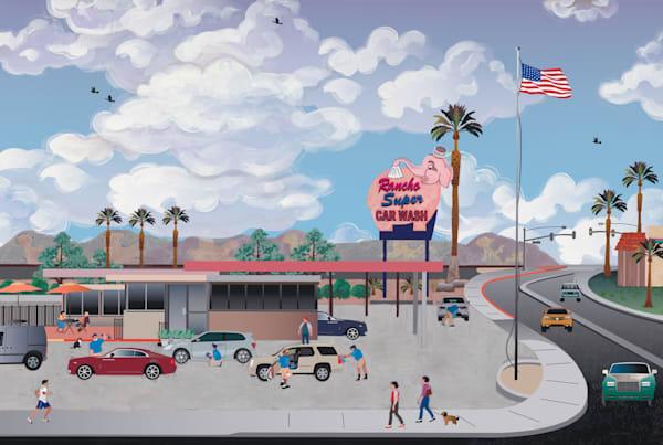 Talkn Bout The Pink Elephant Car Wash Art | Julie Pace Hoff Gallery