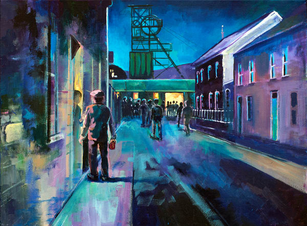 Welsh Miners Art Print/Denise Di Battista