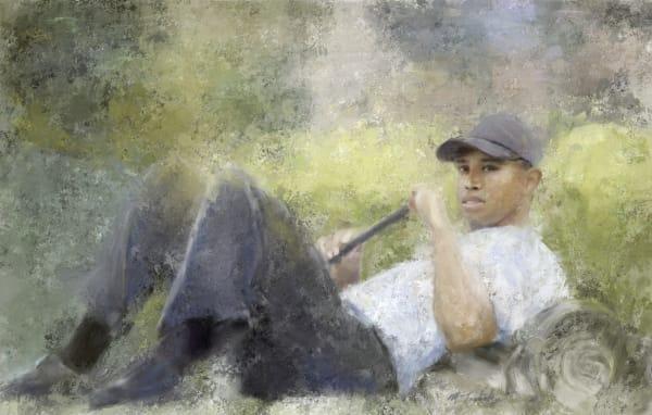 Tiger Woods painting   Sports artist Mark Trubisky   Custom Sports Art