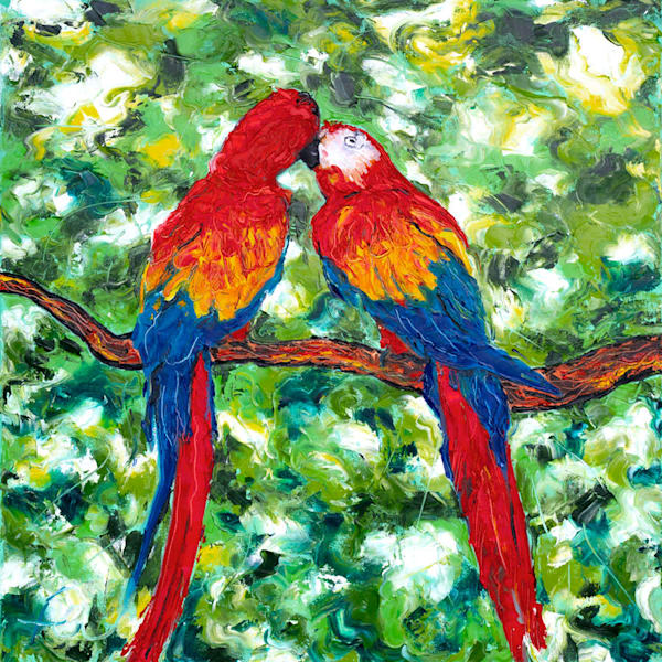 Parrots Painting | Fer Caggiano Art