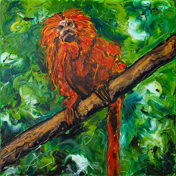 Mico Leão Dourado Painting | Fer Caggiano Art