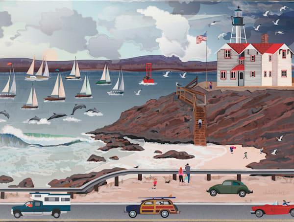 Dolphin's Lighthouse Art | Julie Pace Hoff Gallery