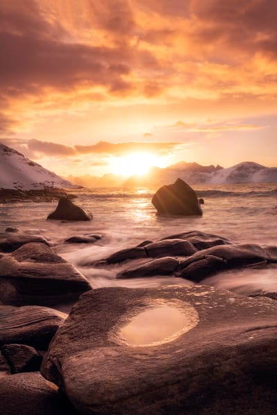 'Boulders & Ice' Photograph by Jess Santos for sale as Fine Art