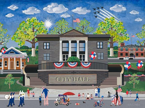 Patriotic Parade Art   Julie Pace Hoff Gallery