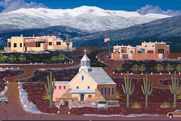 Southwest Winter Luminaries Art   Julie Pace Hoff Gallery