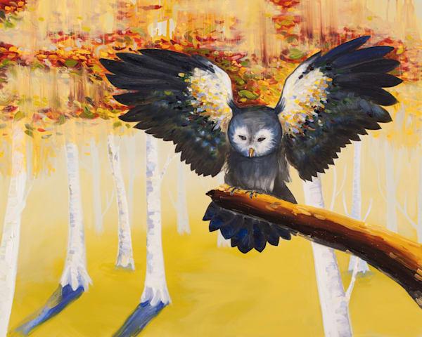 Owl At Dusk Art | Trine Churchill