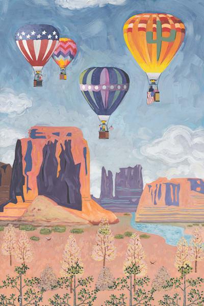 Patriotic Hot Air Balloons Art   Julie Pace Hoff Gallery