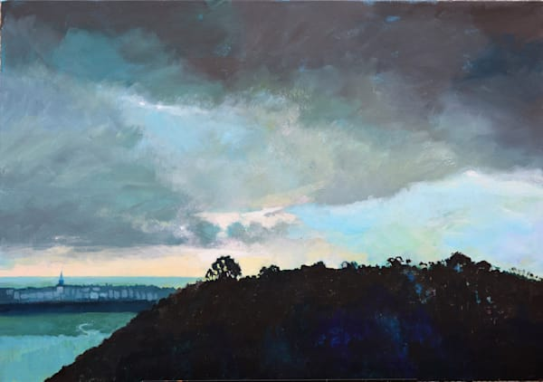 Dark Skies Tenby Painting