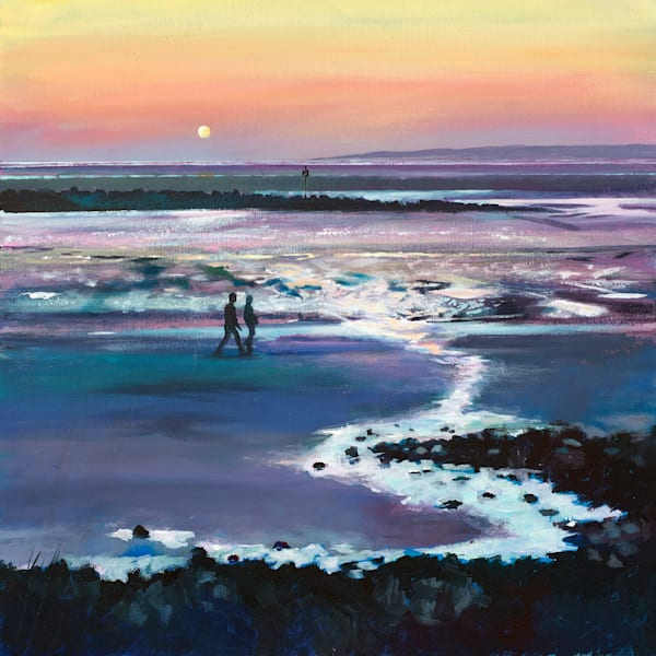 Coastal sunset Original Painting by Denise Di Battista