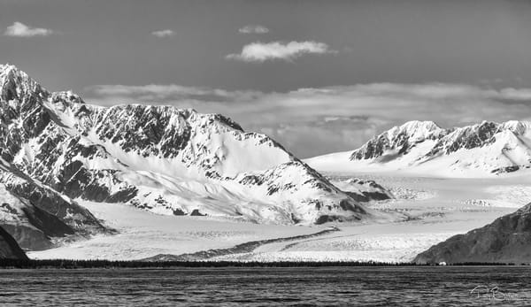 Bear Glacier and the Kenai Mountains near Seward in Southcentral Alaska. Spring. Afternoon.