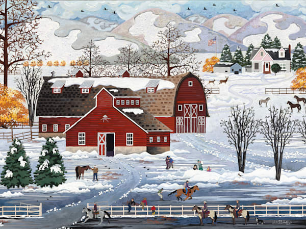 Winter At The Farm Art   Julie Pace Hoff Gallery