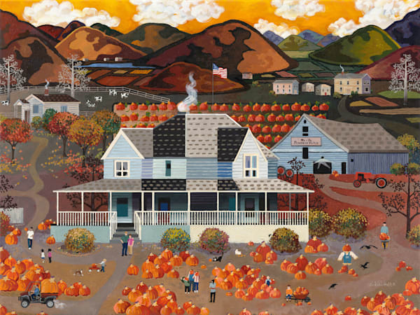 American Pumpkin Patch Art   Julie Pace Hoff Gallery