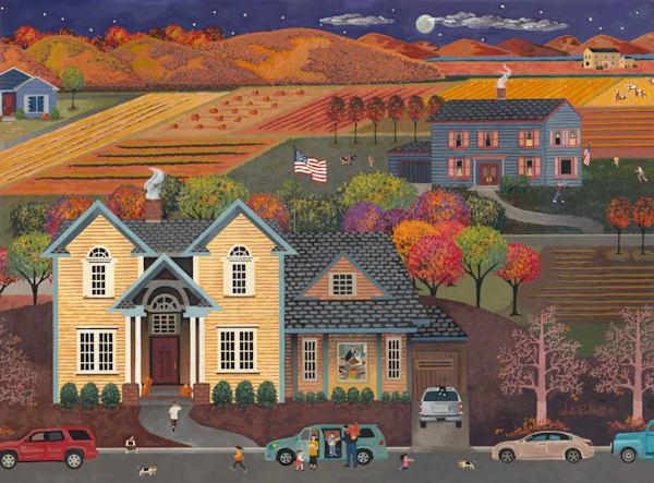 Thanksgiving Americana Art   Julie Pace Hoff Gallery