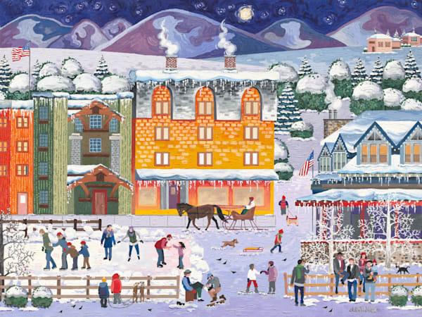 Wintertime Fun Art   Julie Pace Hoff Gallery