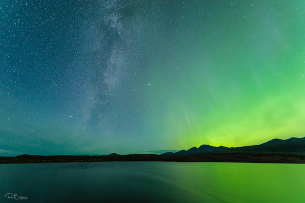 Tangle Lakes Aurora Horizontal Photography Art | Ray Bulson Photography