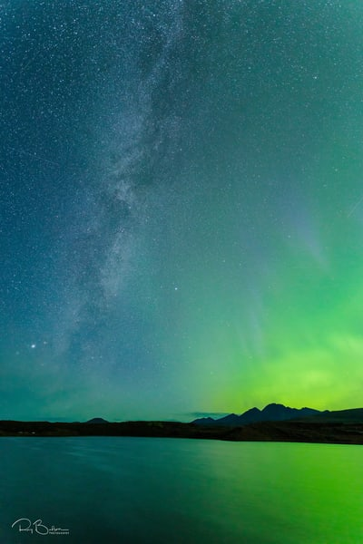 Tangle Lakes Aurora Vertical Photography Art | Ray Bulson Photography