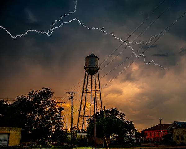 Storm over Happy Texas