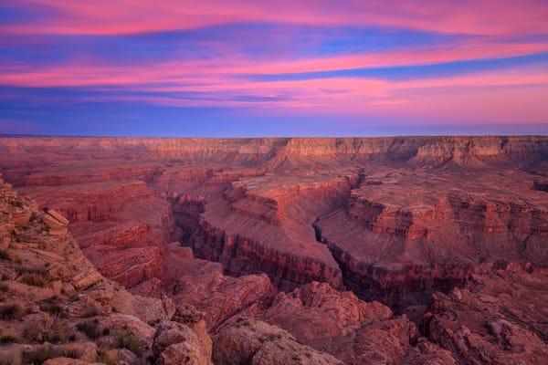 grand canyon burning sunset