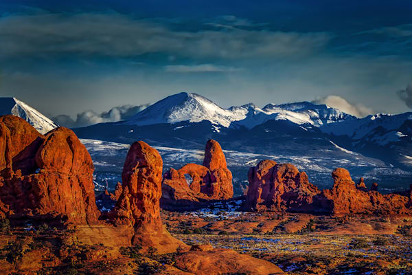 Turret Arch in Winter-Arches National Park