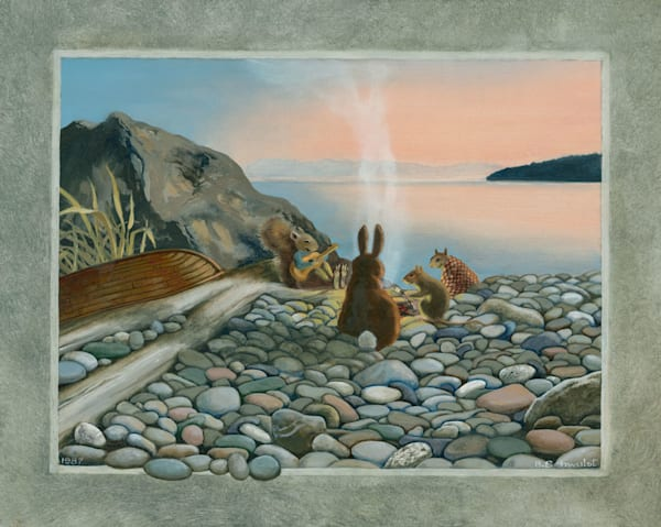 Barb Schwulst - Campfire On Alexander Beach