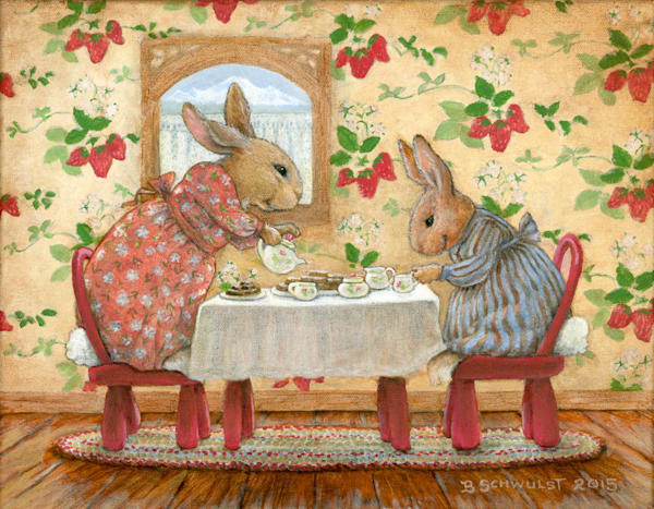 Barb Schwulst - Tea Party Bunnies