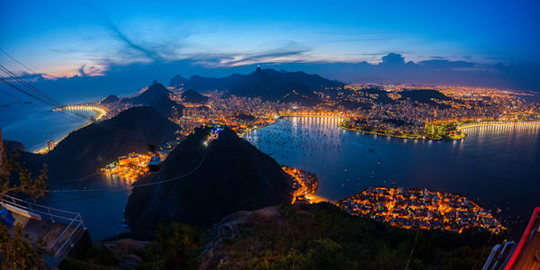 Rio At Night Photography Art | Peter Batty Photography