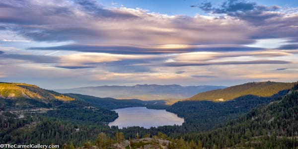 Lenticular clouds over Donner Lake