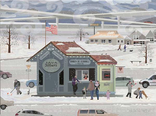 Winter Espresso Kiosk Art   Julie Pace Hoff Gallery