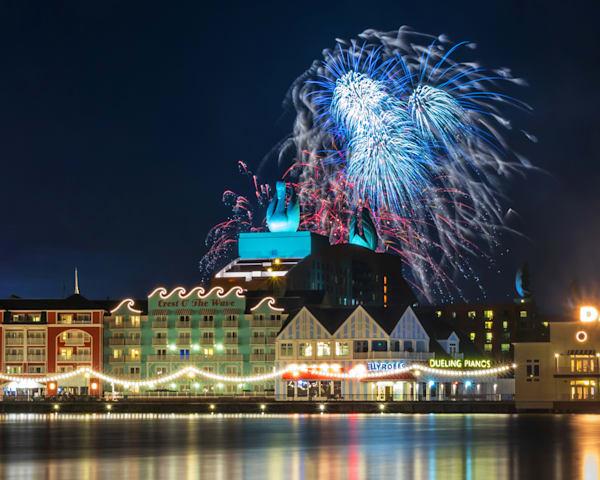 Boardwalk Fireworks 4 - Disney Prints for Sale | William Drew