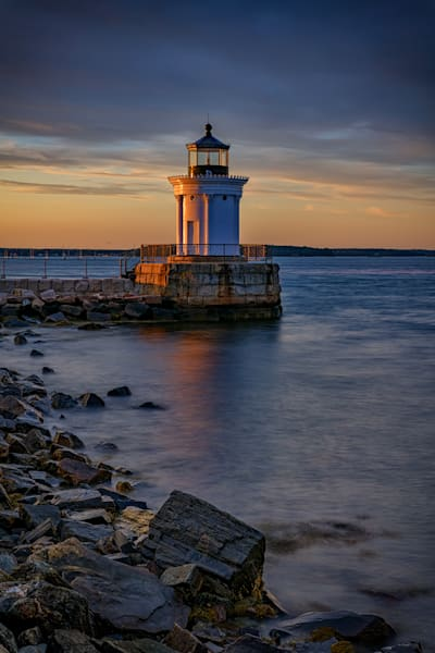 Day's End at Portland Breakwater Light | Shop Photography by Rick Berk