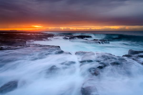 Draining Seas - Newcastle Ocean Baths NSW Australia Beach Sunrise