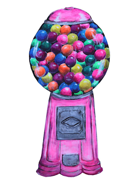 Bubble Gum Machine Art | Art By Dana