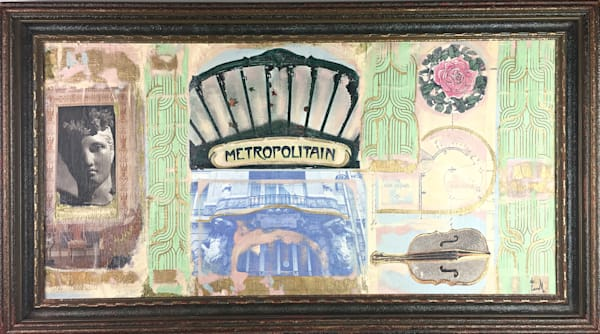 Metropolitain, Paris' de Camille, Mixed Media Original Art on Canvas
