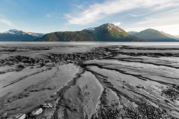 Turnagain Arm Mudflats - Selective Color