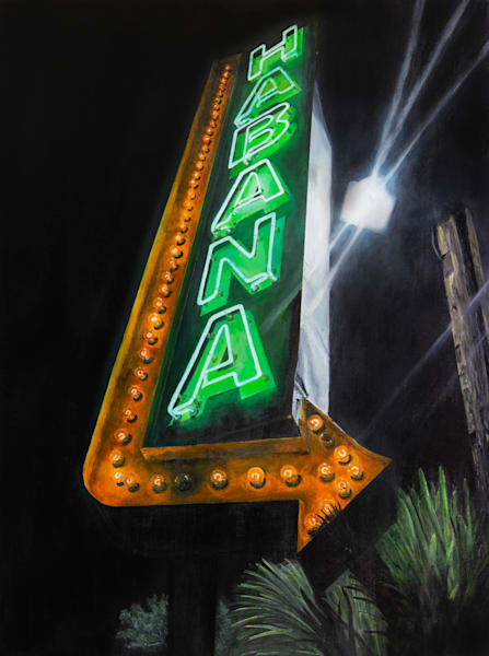 Habana:  An original painting by Artist Shane O'Donnell