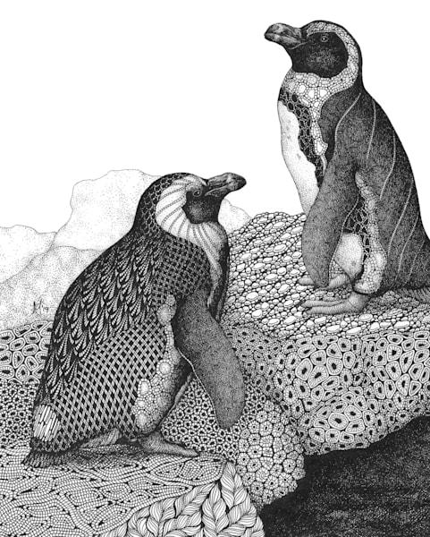 "Penguin Pals Art | Kristin Moger ""Seriously Fun Art"""