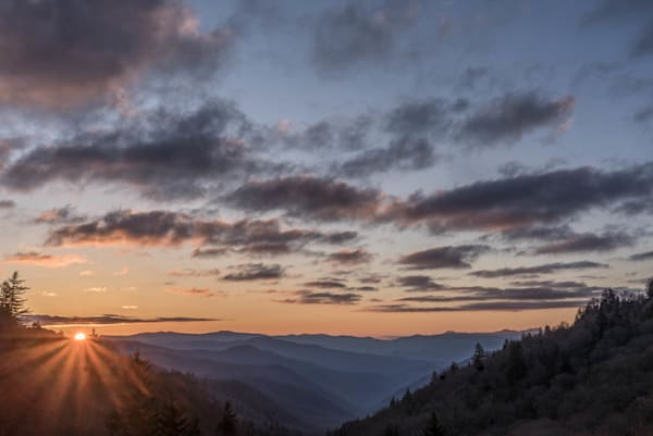 Sunset In The Smoky Mountains Art | Drew Campbell Photography