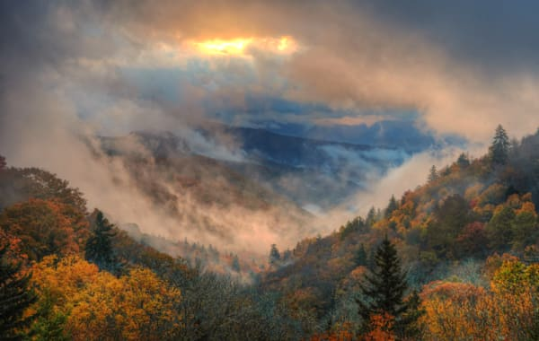 Smoky Mountain Sunrise 1 Of 1 Art | Drew Campbell Photography