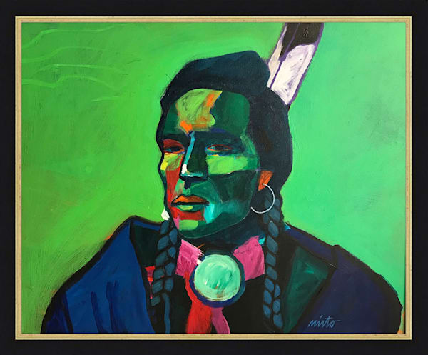 Curly - Custer's Crow Scout | John Nieto Original Painting