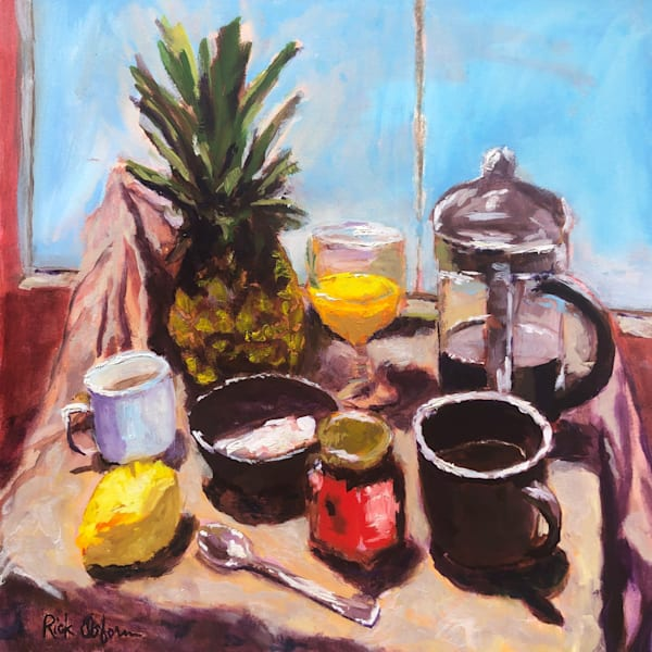 Some Morning Favorites | Fine Art Original Painting by Rick Osborn Artist