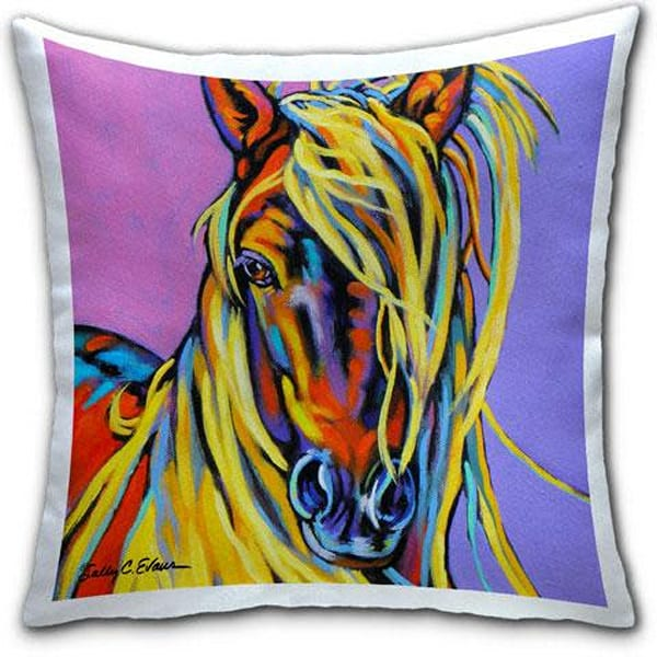 Blondie horse pillow by sally evans and cj bella co 1024x l4znrr