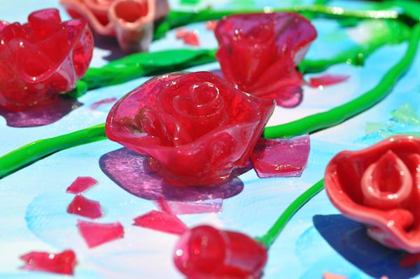 Gel Roses Shadow of Light Print