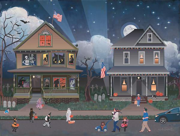 Halloween Trick Or Treating Art | Julie Pace Hoff Gallery