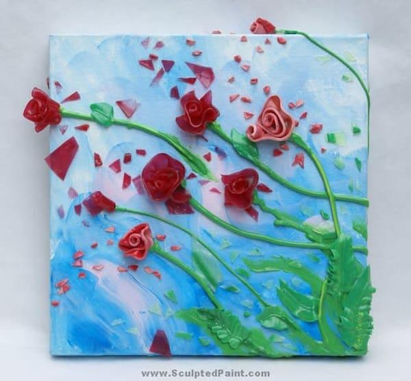 Gel Roses Original Painting